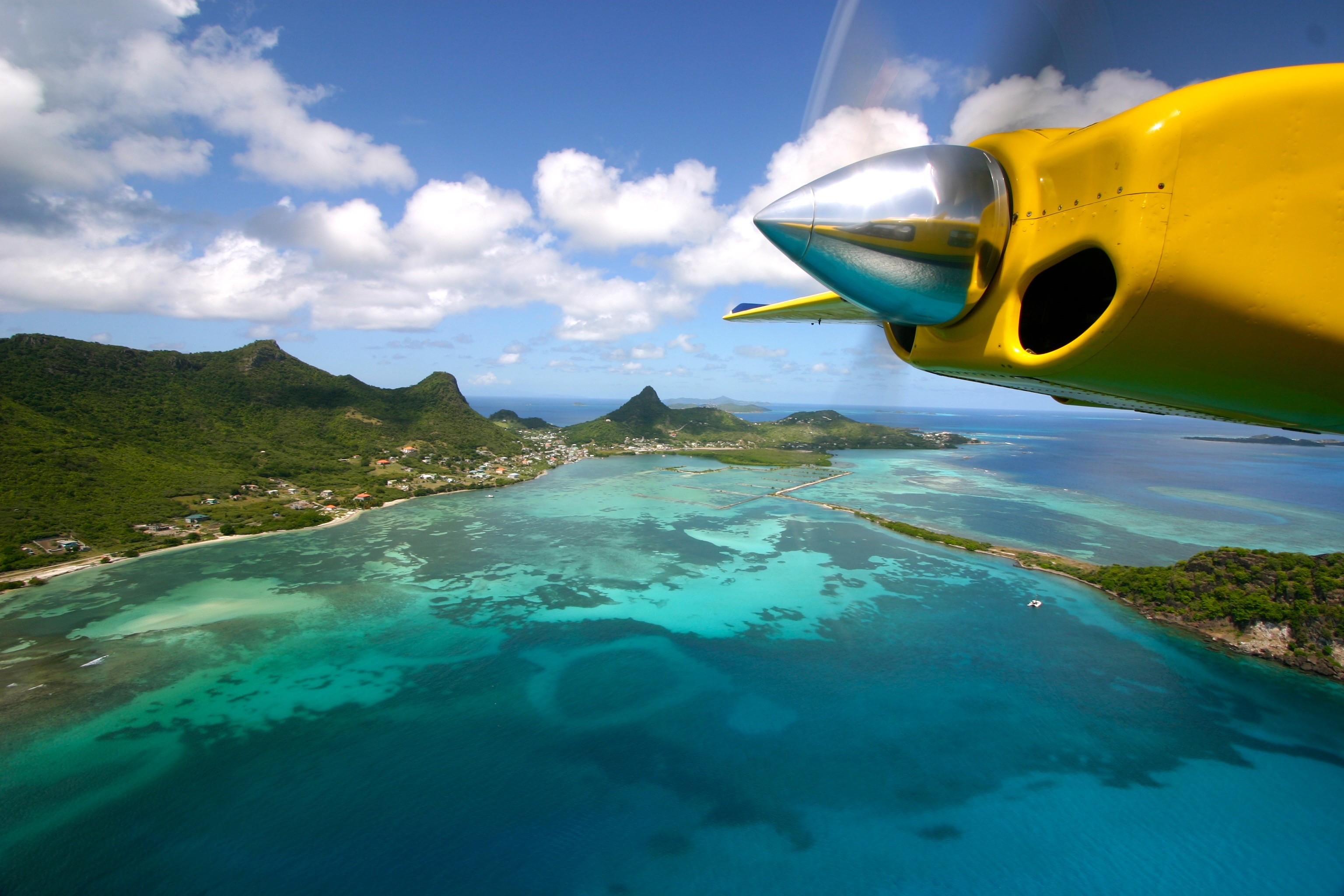 Airplane Flying over Union Island