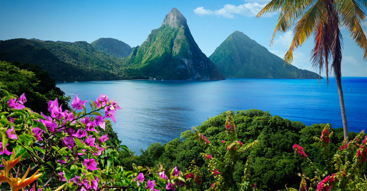 St.Lucia Piton mountains