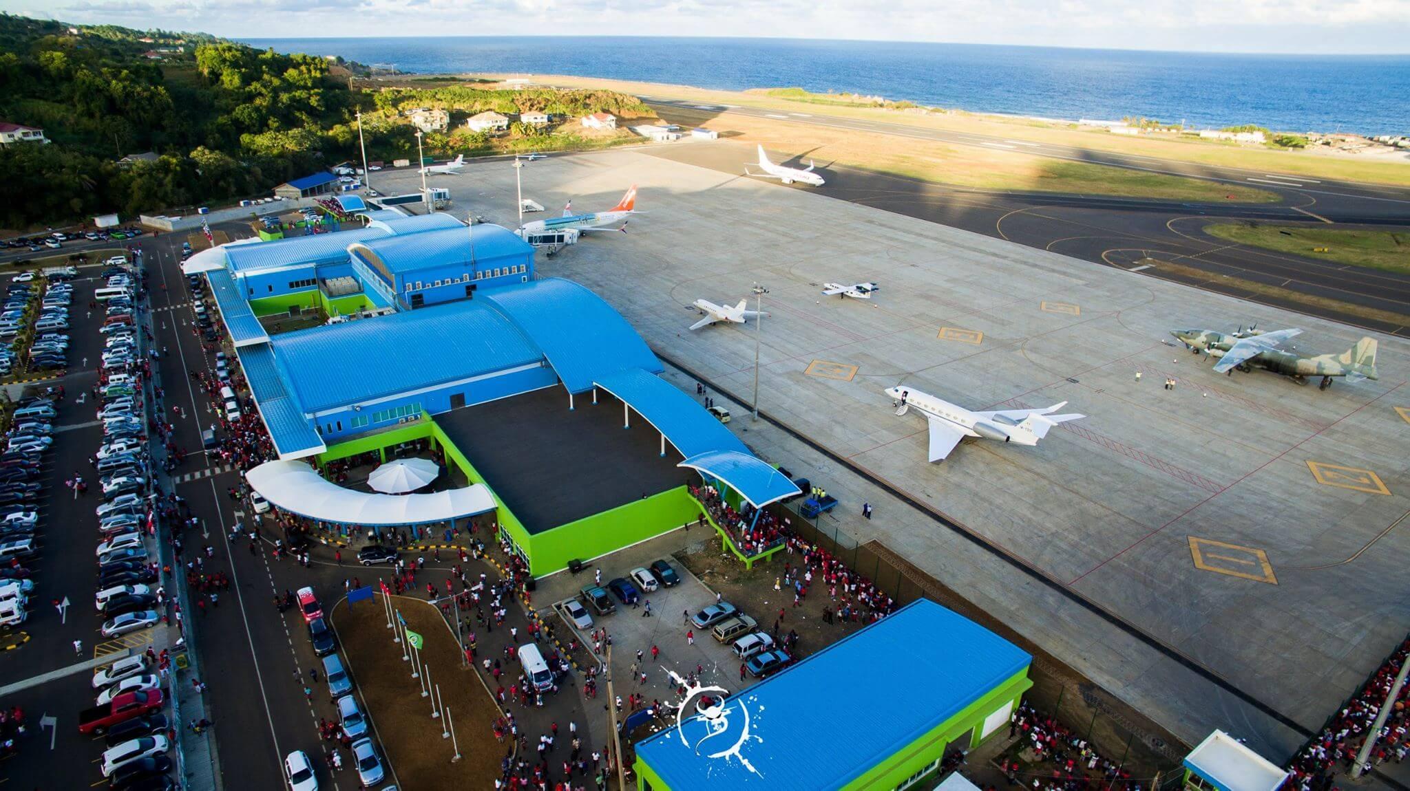 Argyle International Airport daytime drone view